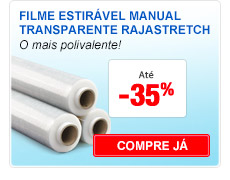 Filme estirável manual transparente rajastretch