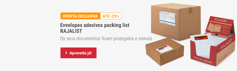 Envelopes adesivos packing list